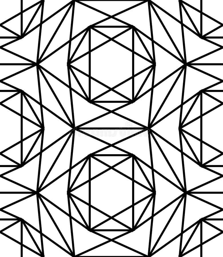 vector modern seamless sacred geometry pattern star black and white rh dreamstime com islamic geometric patterns vector free islamic geometric patterns vector