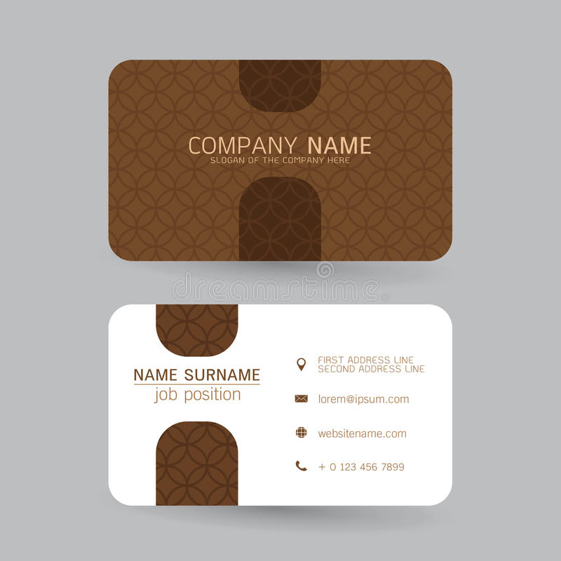 Vector Modern simple light business card template with flat user. Vector set Modern simple light business card template with flat user interface on gray stock illustration
