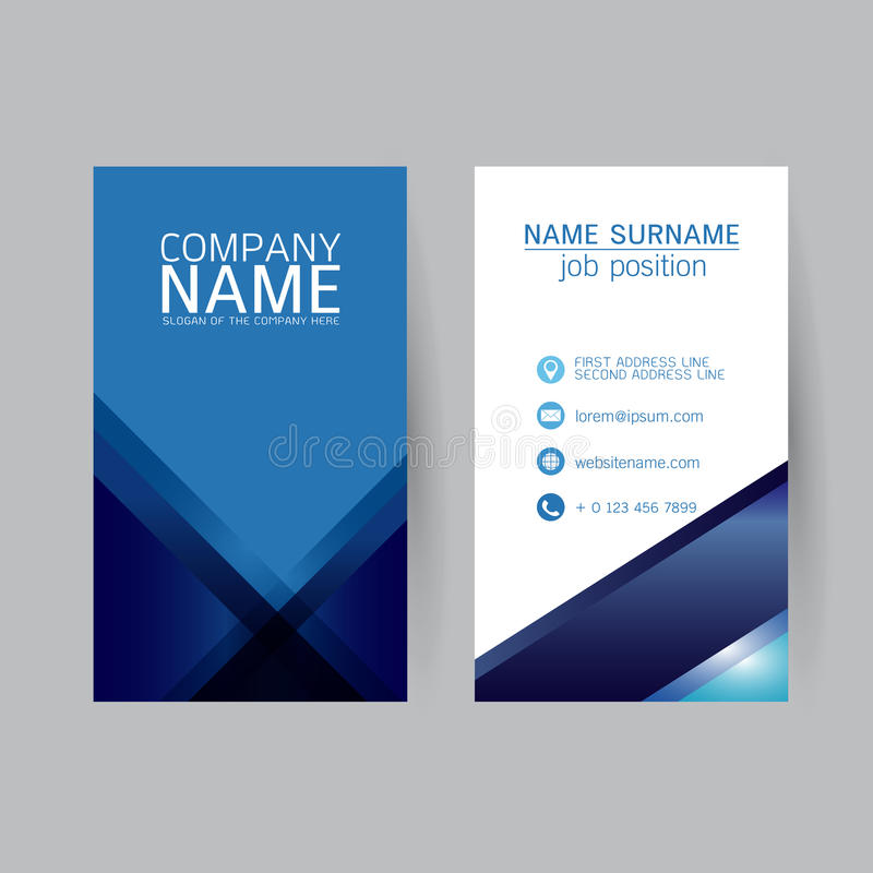 Vector Modern simple light business card template with flat user royalty free illustration
