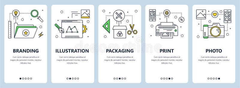 Vector modern thin line branding concept web banners vector illustration
