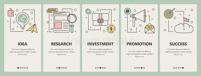 Vector modern thin line flat design startup concept vertical banners stock illustration