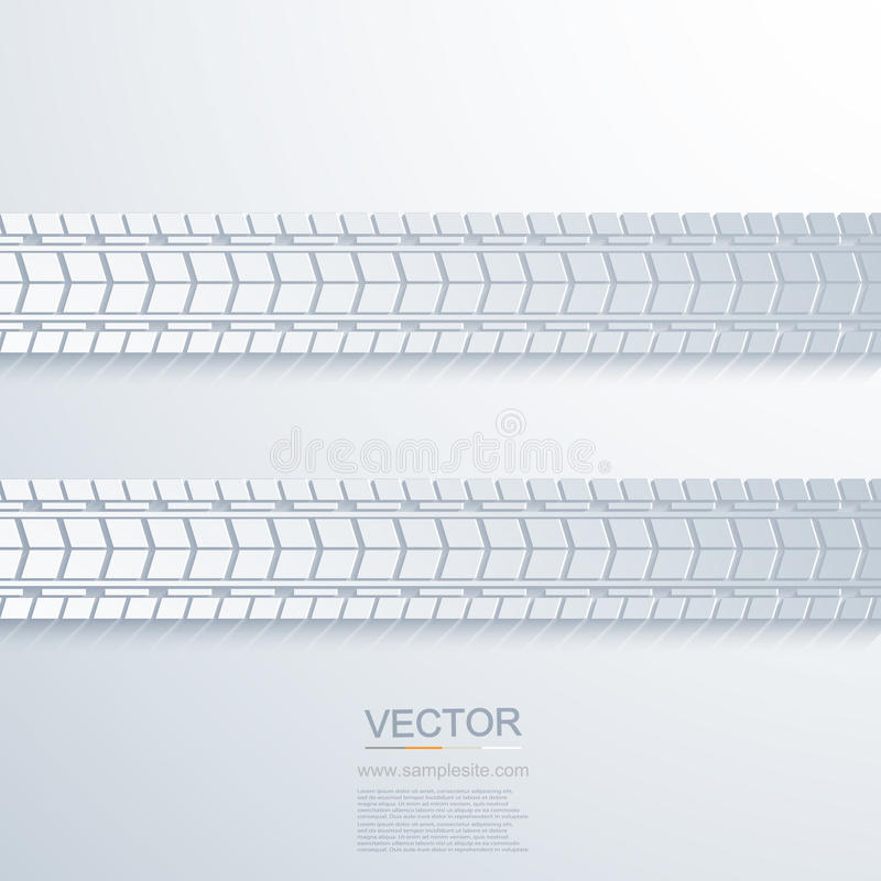 Vector modern trace of the tire background stock illustration