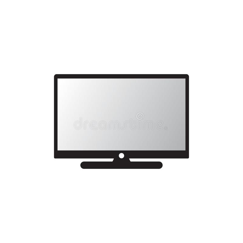 Vector modern TV-pictogram PC-pictogram Het pictogram van de monitor Ge?soleerdee vector stock illustratie