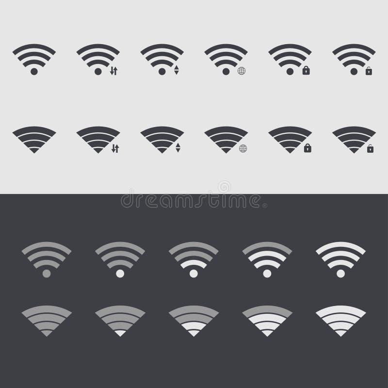 Vector modern wi fi set icons. Web element design stock illustration