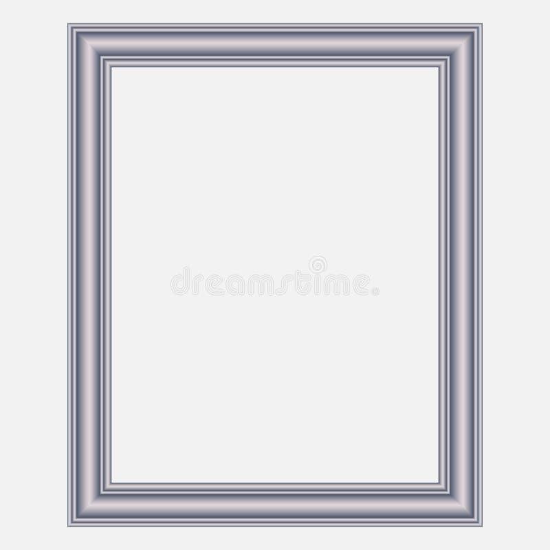 Vector modern zilveren kader royalty-vrije illustratie
