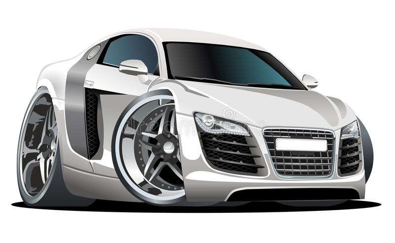 Vector moderne beeldverhaalauto stock illustratie