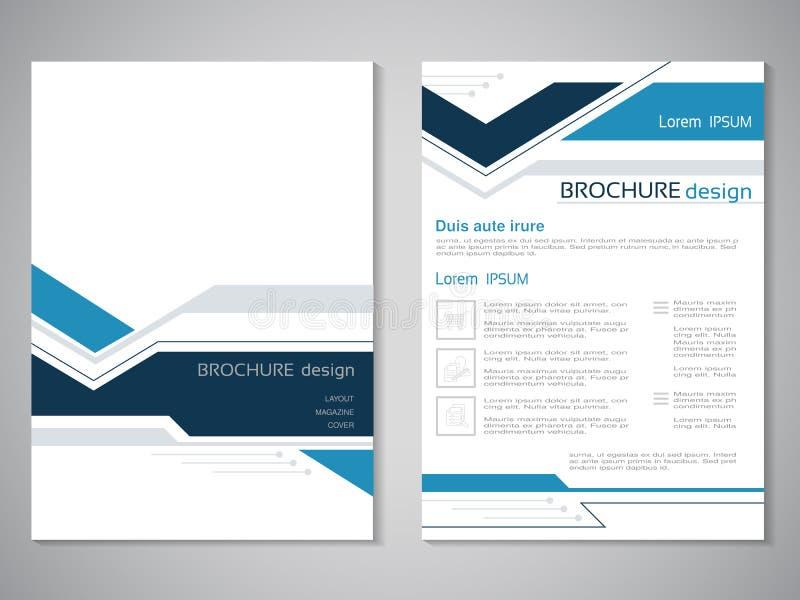 Vector moderne brochure Ontwerp van jaarverslag, abstracte vlieger met technologieachtergrond Lay-outmalplaatje Affiche van donke stock illustratie