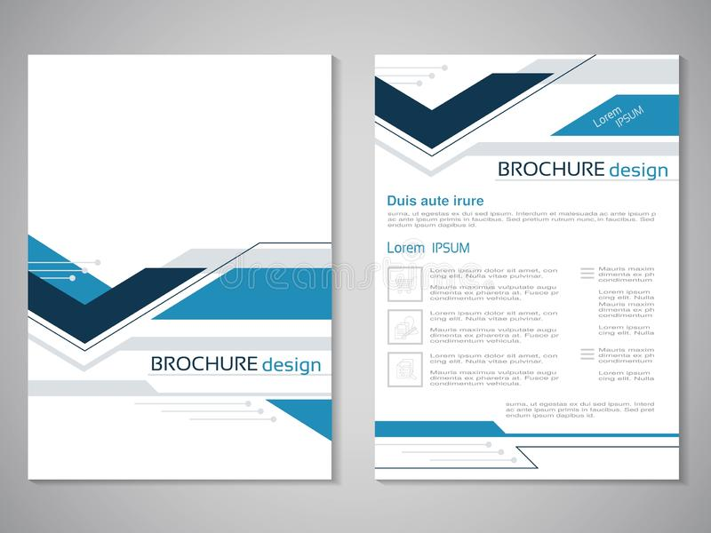 Vector moderne brochure Ontwerp van jaarverslag, abstracte vlieger met technologieachtergrond Lay-outmalplaatje Affiche van donke vector illustratie