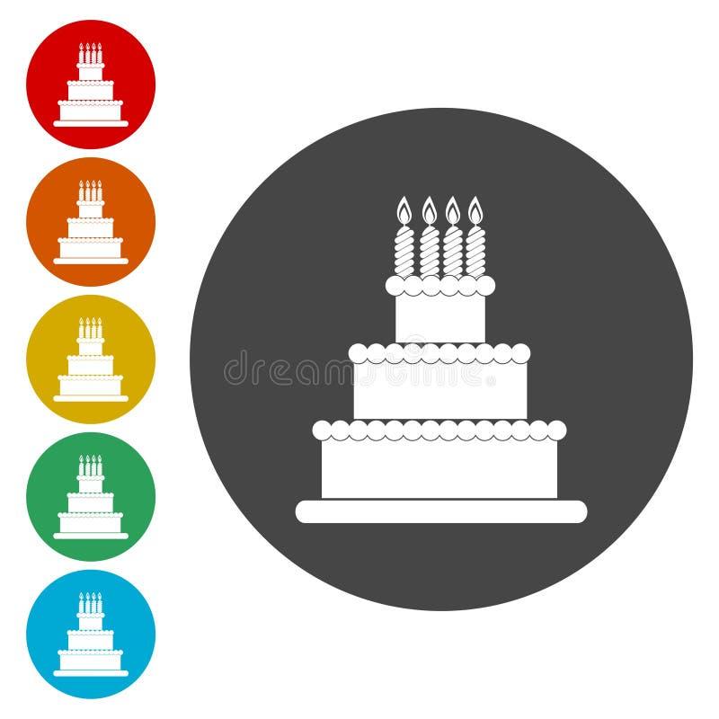Vector moderne cake stock illustratie