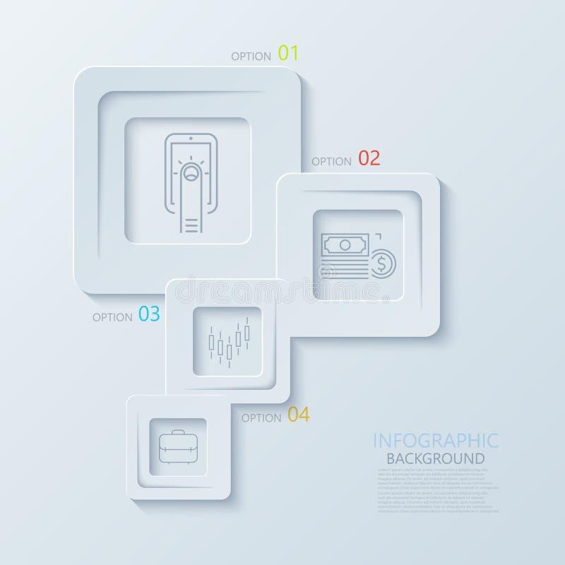 Vector moderne creatieve infographics met dunne lijn vlakke pictogrammen vector illustratie