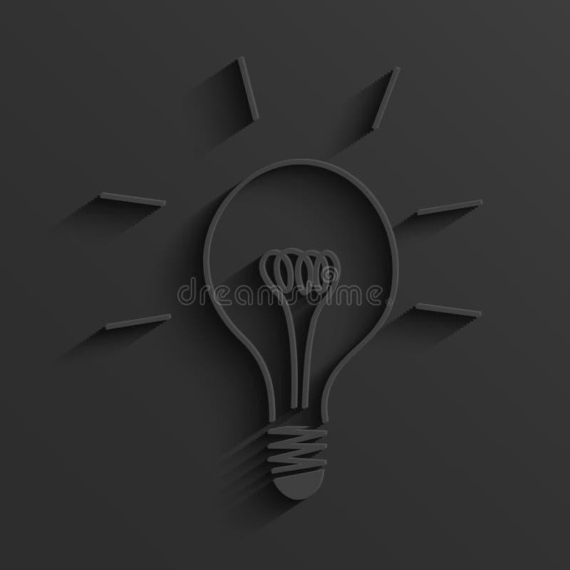 Vector moderne gloeilampenachtergrond royalty-vrije illustratie