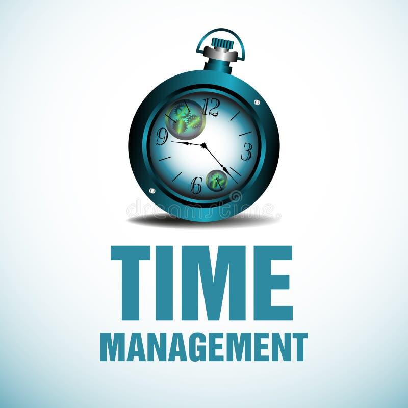 Vector moderne illustratie in vlakke stijl met de mannelijke chronometer van de handholding stock illustratie