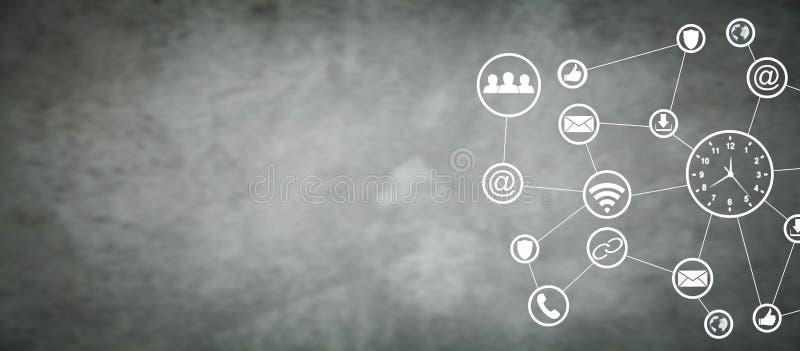 Vector moderne illustratie in vlakke stijl met de mannelijke chronometer van de handholding Sociaal netwerk Bedrijfs concept royalty-vrije stock afbeelding