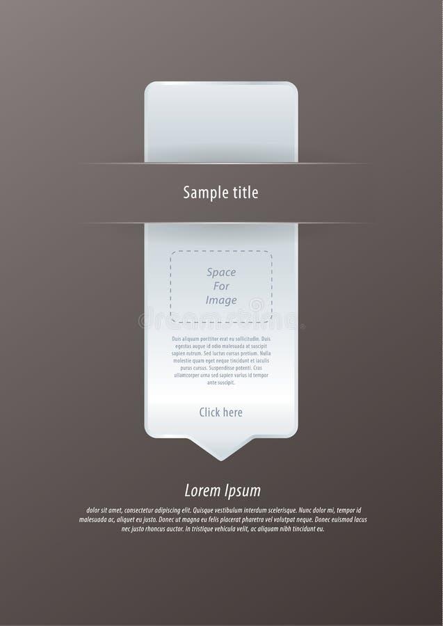 Vector moderne infographic pijl. De luxe voelt. Aanzienlijk, editable stock illustratie