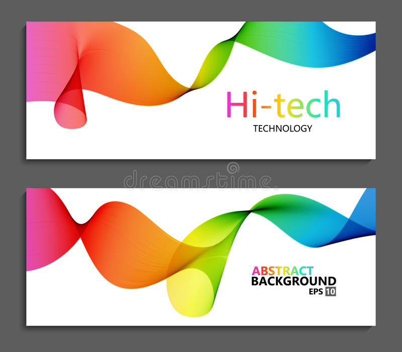 Vector moderne kleurrijke abstracte achtergronden stock illustratie
