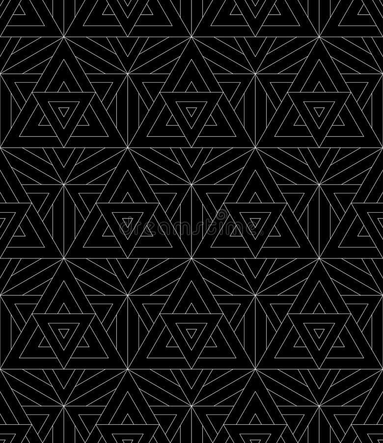 Vector moderne naadloze patroon heilige meetkunde stock illustratie