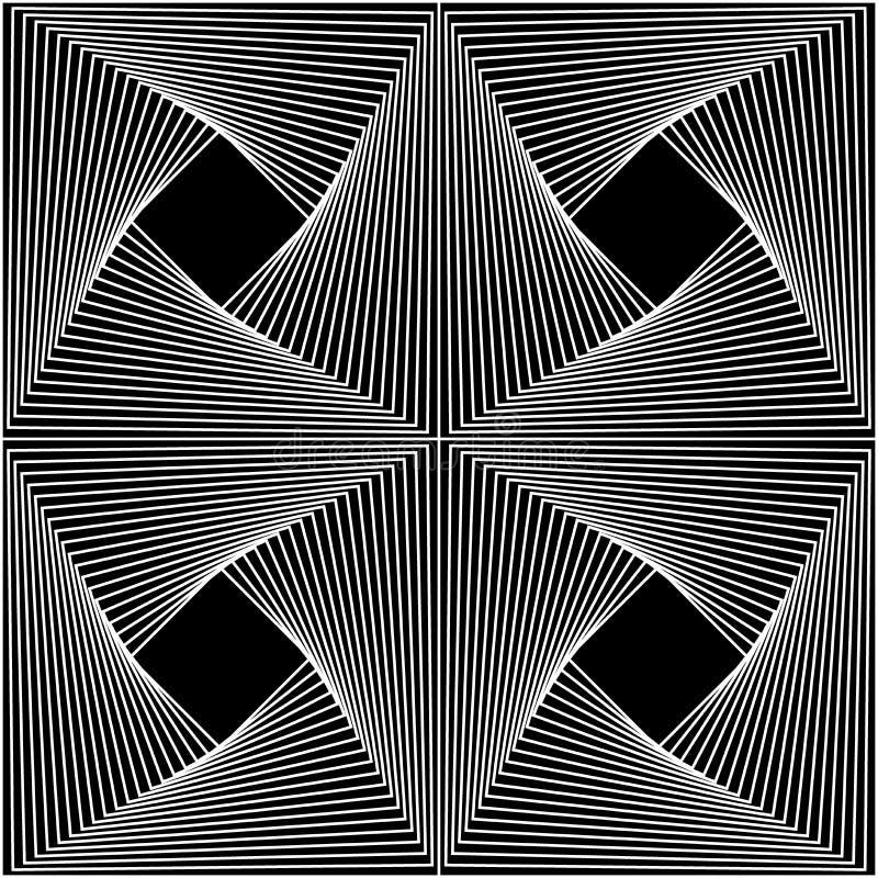 Vector moderne nahtlose Geometriemusterlinie Kunst, Schwarzweiss-Zusammenfassung stock abbildung