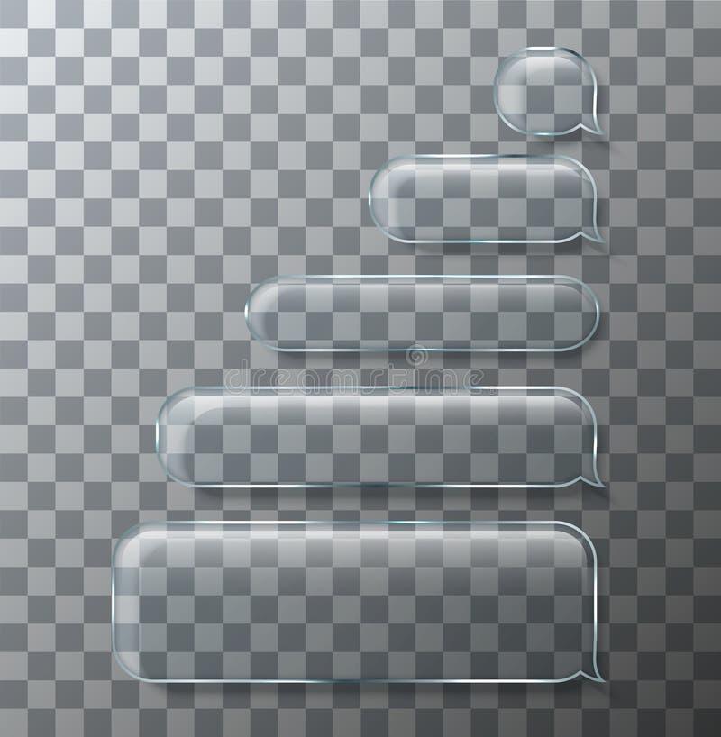 Vector moderne sms of de pictogrammen van het berichtglas Bellentoespraak royalty-vrije illustratie