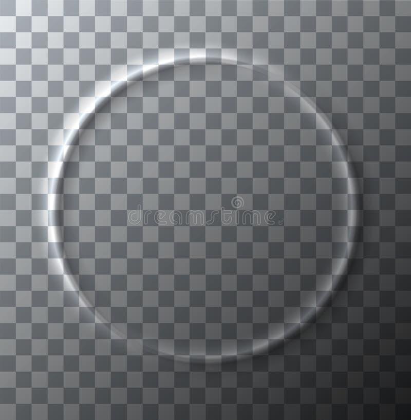 Vector modernen Kreiseffekt von zerknittert auf transparenten Hintergrund lizenzfreie abbildung