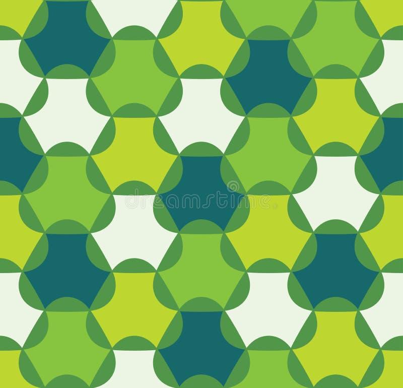 Vector modernes nahtloses buntes Geometriemuster, Farbe-abstrac lizenzfreie abbildung