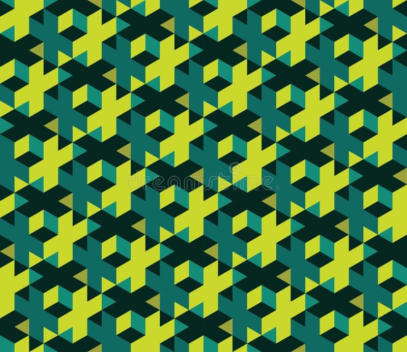 Vector modernes nahtloses buntes Geometriemuster, Farbzusammenfassung stock abbildung