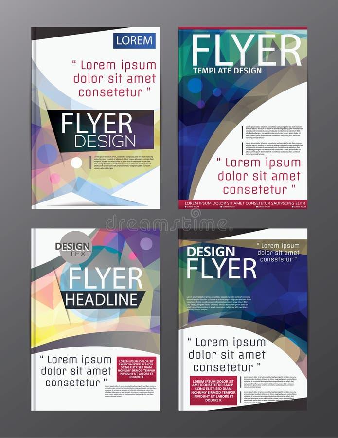 Vector moderno CMYK A4 moderno del folleto del polígono libre illustration