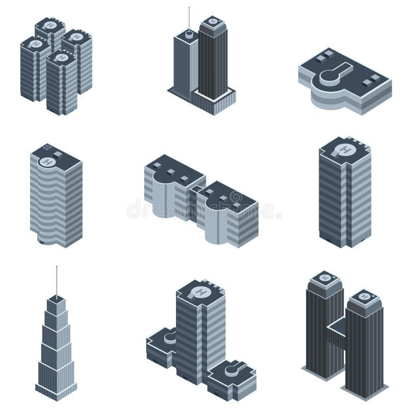 Vector moderno del edificio stock de ilustración