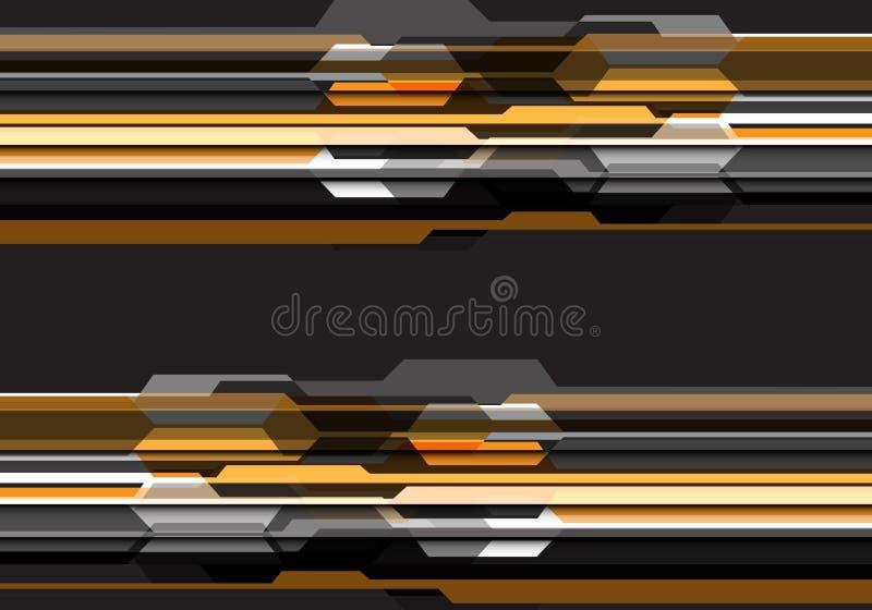 Vector moderno del fondo de la tecnología del tono del diseño futurista gris amarillo abstracto del polígono ilustración del vector