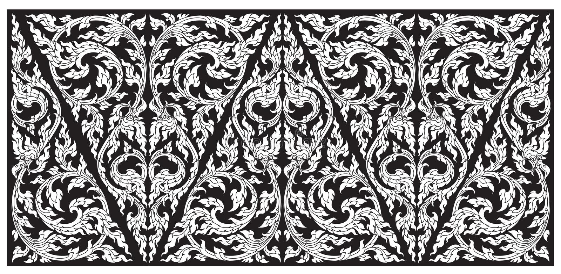 Vector modieuze patroon Thaise traditie stock illustratie