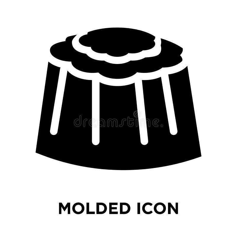 Vector moldeado del icono aislado en el fondo blanco, concepto del logotipo de stock de ilustración