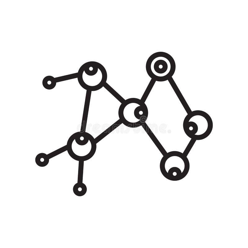 Vector molecular del icono aislado en el fondo blanco, si molecular stock de ilustración
