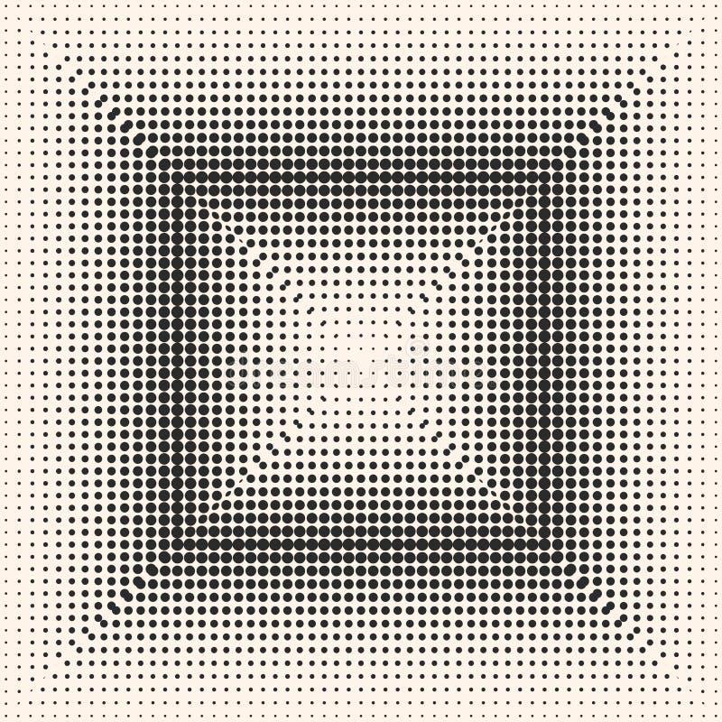 Vector monochrome картина полутонового изображения, цифровая постепенно переводите бесплатная иллюстрация
