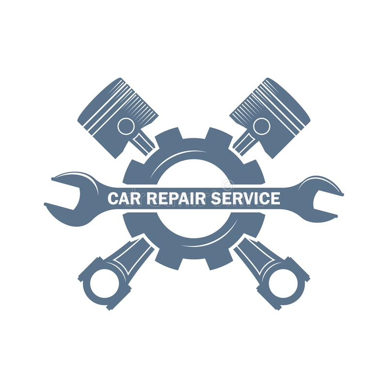 Car repair service monochrome logo stock photos
