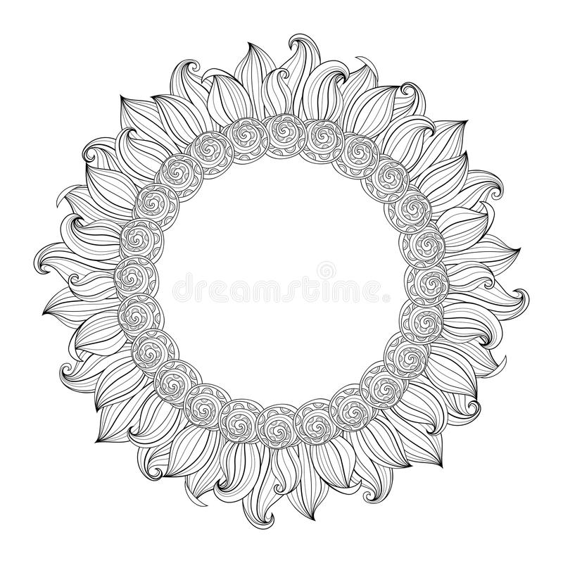 Vector Monochrome Floral Background vector illustration
