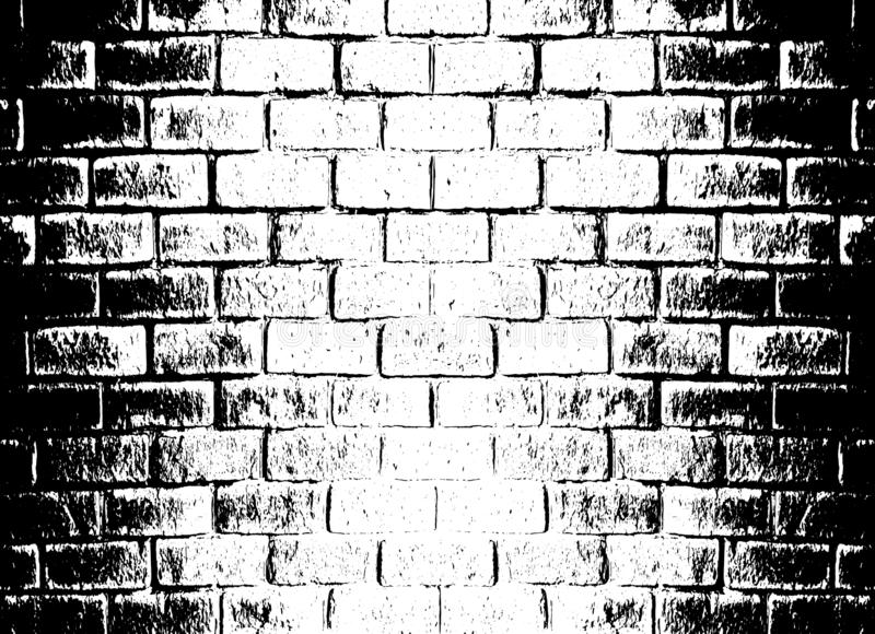 Vector monochrome grunge background. Illustration of brick wall texture. Grunge Distress Sketch Stamp Overlay Effect royalty free illustration