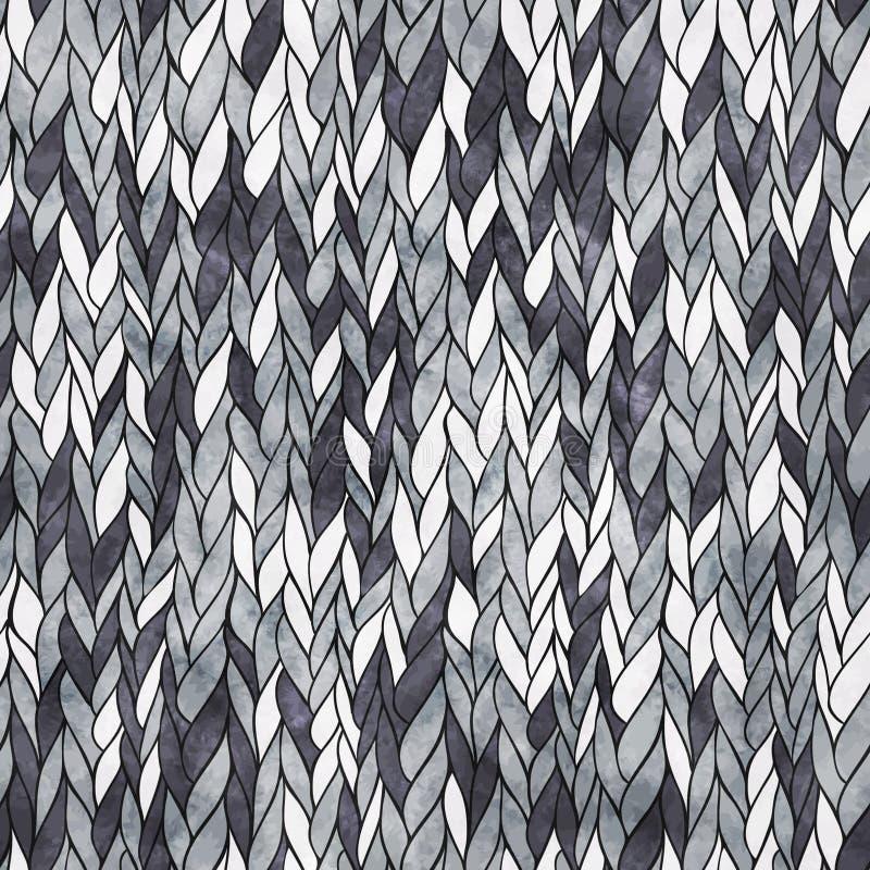 Seamless knitting pattern stock illustration