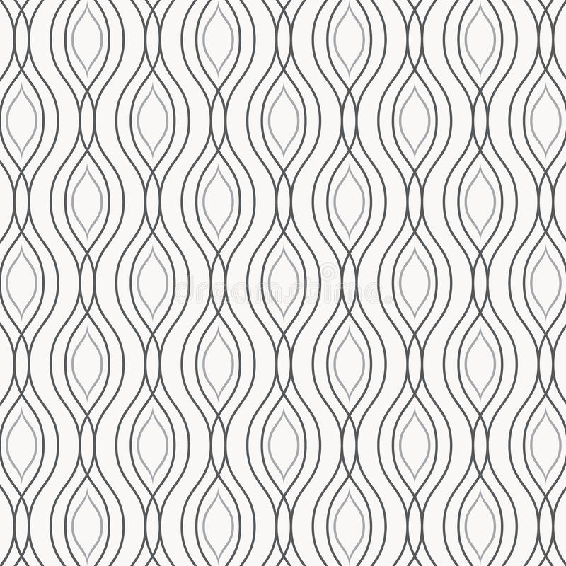 Free Vector Monochrome Pattern, Abstract Chain Black Lines On White Background, Subtle Vertical Chains. Design Element For Prints Royalty Free Stock Images - 91480869