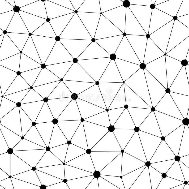 Vector monochrome seamless pattern, black linear triangles royalty free illustration