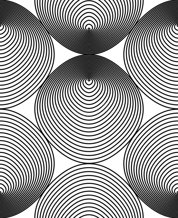 Vector monochrome stripy endless pattern, art continuous geometric background with graphic lines. vector illustration