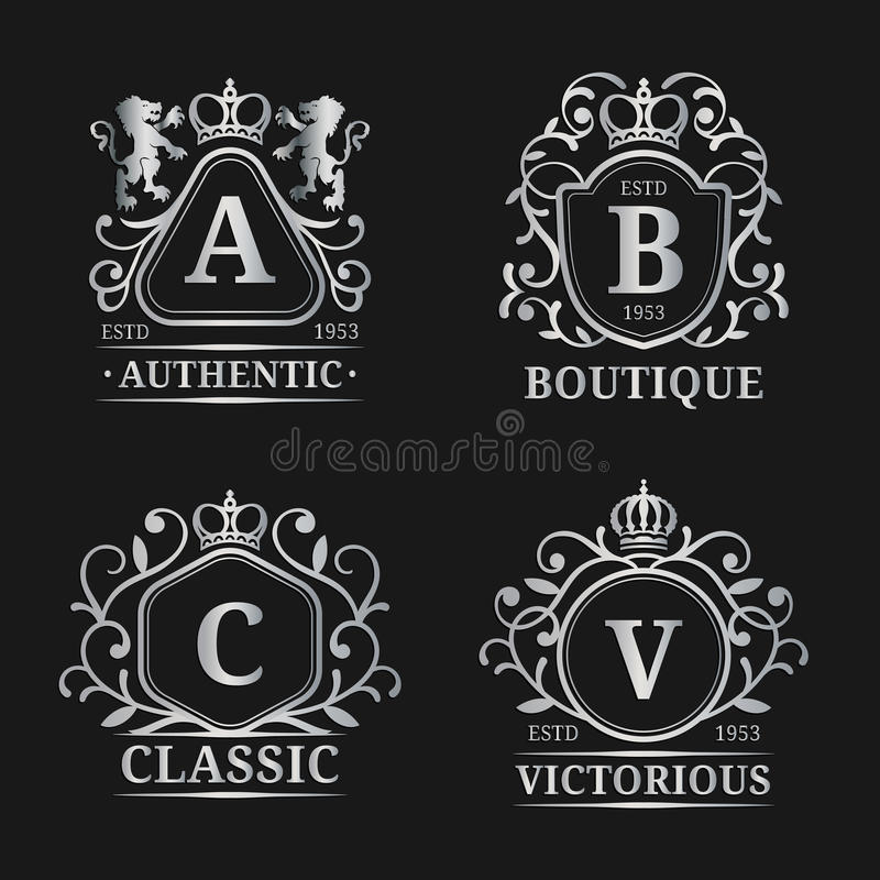 Vector Monogram Logo Templates. Luxury Letters Design. Graceful ...