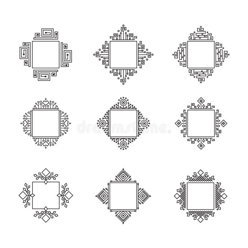 Vector monogram set stock illustration