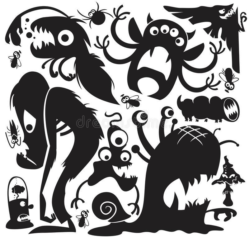 Free Vector Monsters Party Set Stock Photography - 121411262