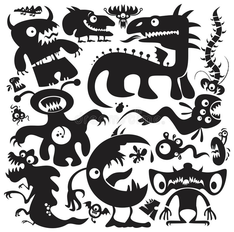 Free Vector Monsters Set Royalty Free Stock Image - 121306626