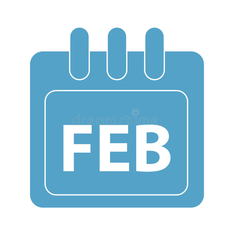 Vector month on calender. February. vector month on calender stock illustration