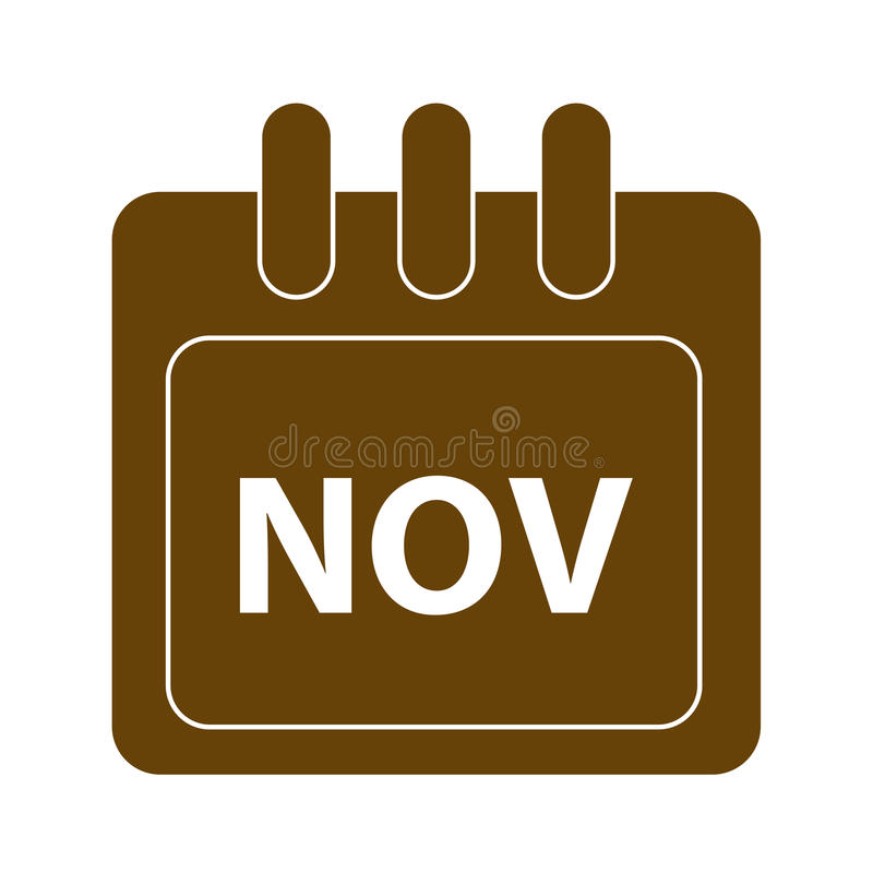 Vector month on calender. November. vector month on calender stock illustration