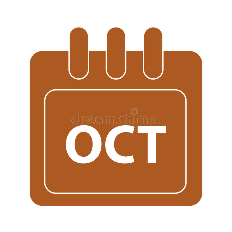 Vector month on calender. October. Vector month on calender vector illustration
