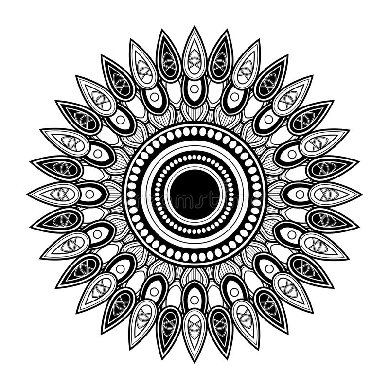 Vector Mooi Deco Mandala vector illustratie