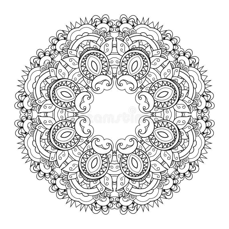Vector Mooi Deco Mandala royalty-vrije illustratie