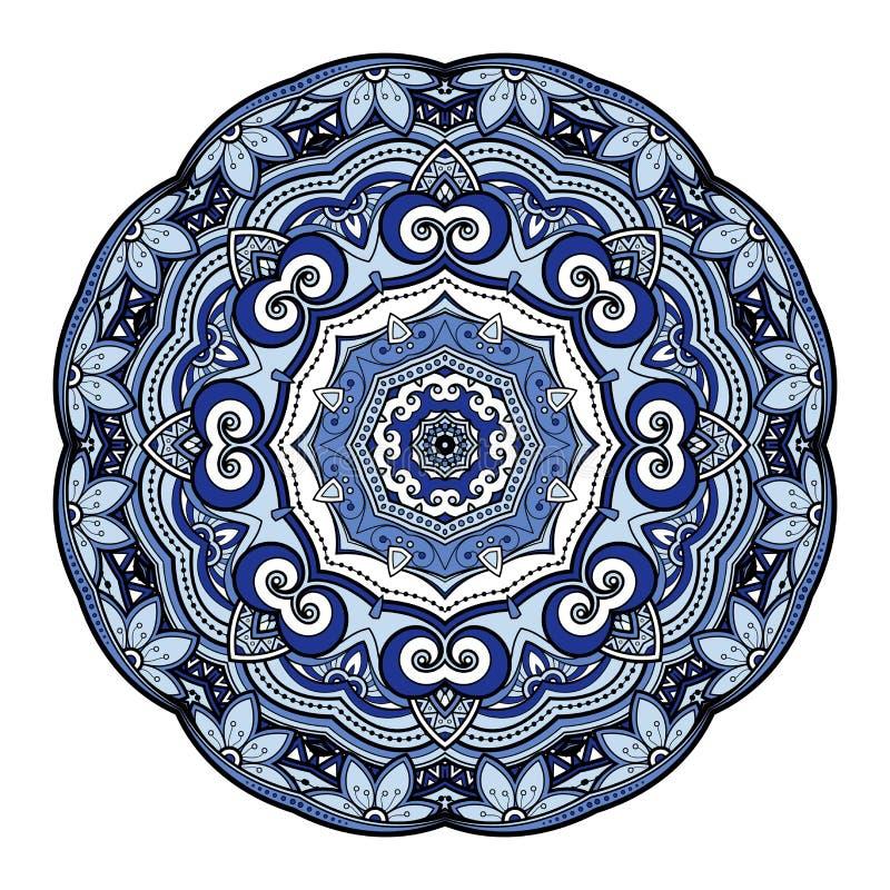 Vector Mooie Deco Gekleurde Mandala vector illustratie