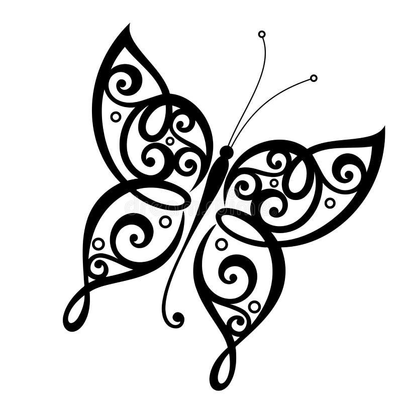 Vector mooie vlinder vector illustratie